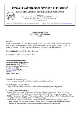 Zápis ze schůze výboru ČPCHS dne 10