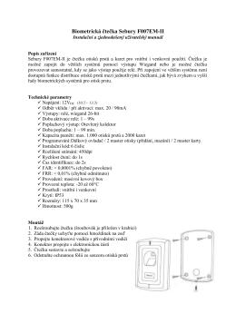 Biometrická čtečka Sebury F007EM-II
