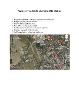 Popis cesty na letiště Liberec (od Od Globus)
