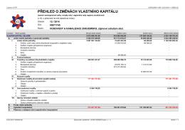 Přehled o změnách vlastního kapitálu 12