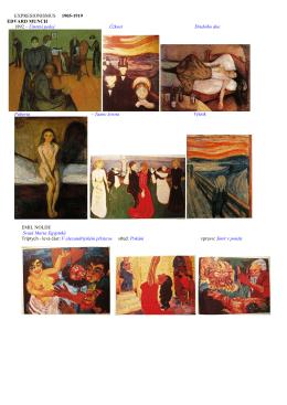 EXPRESIONISMUS 1905-1919 EDVARD MUNCH 1892 – Úmrtní