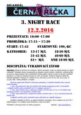 3. NIGHT RACE 12.2.2016