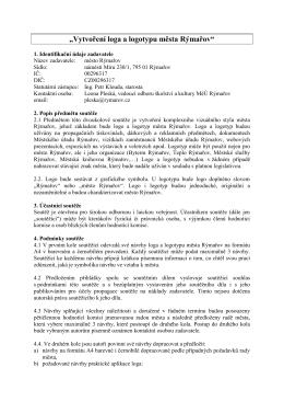 """""""Vytvoření loga a logotypu města Rýmařov"""""""
