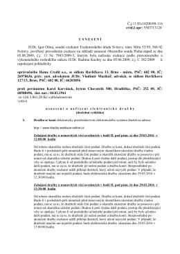Usnesení o nařízení elektronické dražby č.j: 111Ex10200/09-116