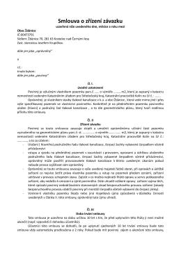 Smlouva o zřízení závazku