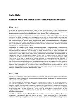 Abstrakt - Vlastimil Klima, Dr.