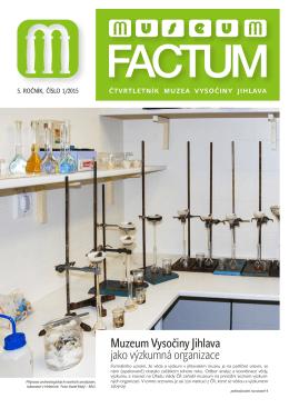 Museum Factum 1/2015 - Muzeum Vysočiny Jihlava