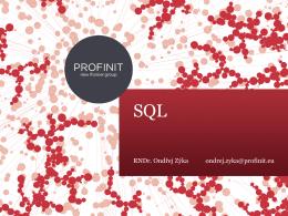 SQL a jeho úskalí