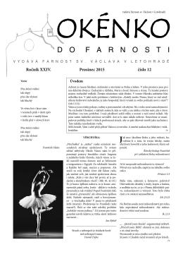 Okénko do farnosti 12/2015 (formát pdf) - Letohrad