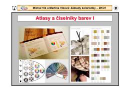 Atlasy a číselníky barev I