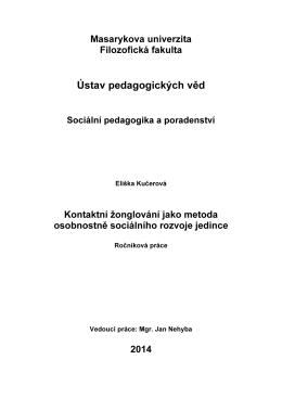 Plný text ročníkové práce KE STAŽENÍ