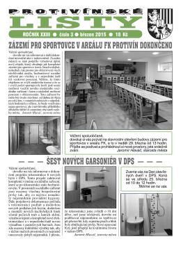Protivínské listy 03/2015 (PDF, cca 3,1 MB)