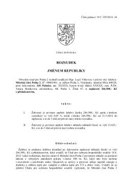 vydal Obvodní soud pro Prahu 2 rozsudek