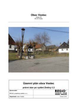 Obec Vestec Územní plán obce Vestec