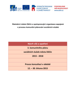 Proces připomínkování - komunitní plánování města děčín