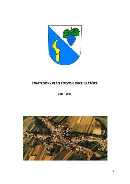 9 strategický plán rozvoje obce bratčice