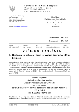 Verejna_vyhlaska - Stránky obce Branišov