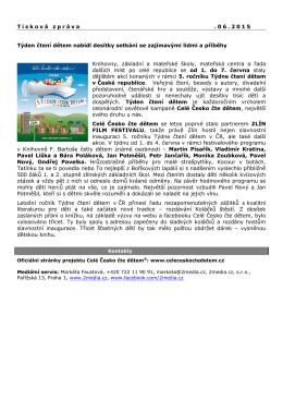 Tisková zpráva 10. 6. 2015
