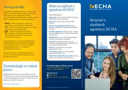 Stručně o službách agentury ECHA