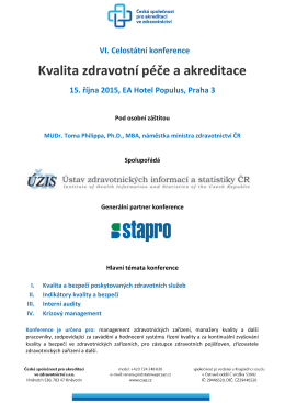 Kvalita zdravotní péče a akreditace - ČSAZ