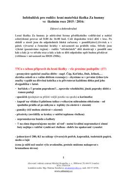rodičovský infobalíček 2014-15