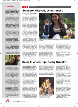 Kultura - 29. 6. 2015 - Mezinárodní hudební festival Český Krumlov