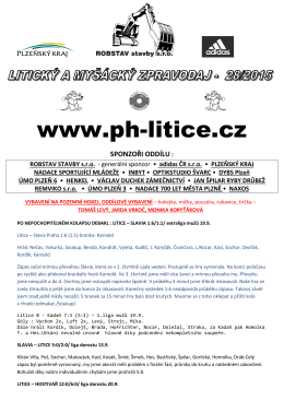 zpravodaj číslo 28/2015 z 22.IX. - TJ Plzeň