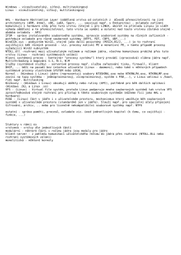 Struktura OS - popis Unix a NT
