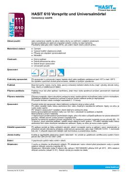 HASIT 610 Vorspritz und Universalmörtel
