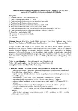 Zápis z veř.zasedání ZO 2015-06-22