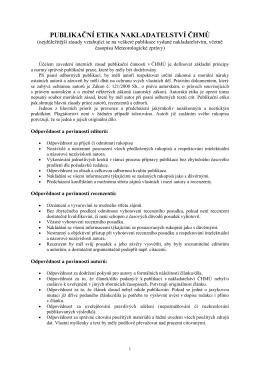 Publikační etika - Časopis Meteorologické zprávy