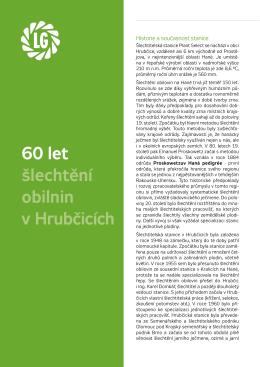60 let šlechtění obilnin v Hrubčicích