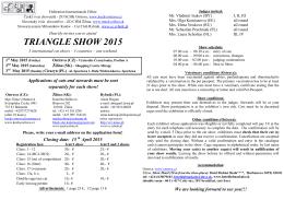 TRIANGLE SHOW 2015