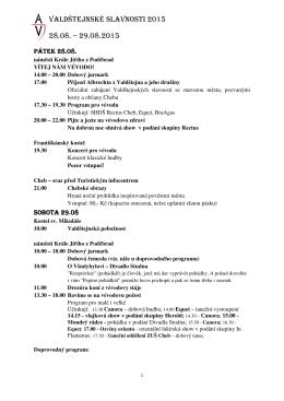 Program - Chebské Valdštejnské slavnosti