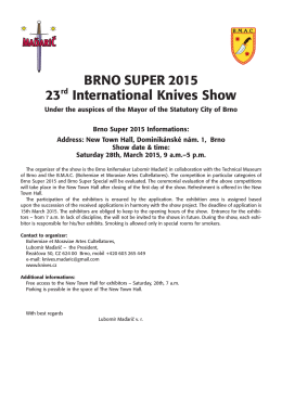 BRNO SUPER 2015 23rd International Knives Show