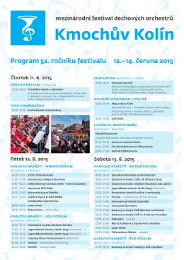 Program 52. ročníku festivalu 12.–14. června 2015 - What is OR-FEA?
