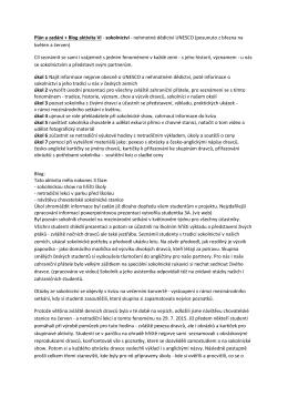 Plán a zadání + Blog aktivita VI - sokolnictví