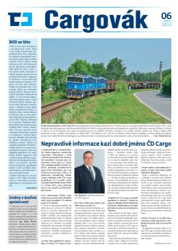 Nepravdivé informace kazí dobré jméno ČD Cargo