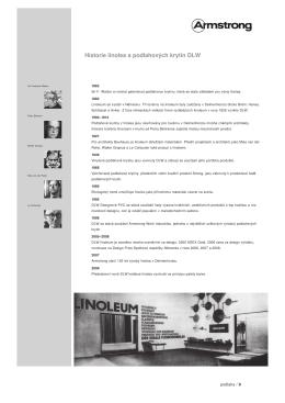 Historie linolea a podlahových krytin DLW - Eshop