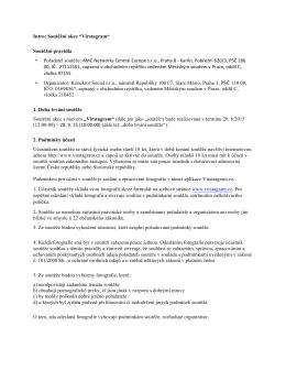 """Intro: Soutěžní akce """"Virstagram"""" Soutěžní pravidla • Pořadatel"""