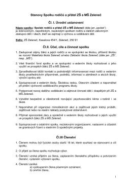 Stanovy spolku – PDF