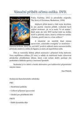 Vánoční příběh očima oslíka (DVD)