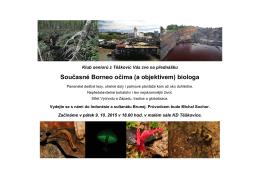 Současné Borneo očima (a objektivem) biologa