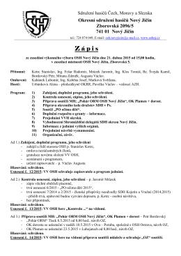 Zápis ze dne 21. 04. 2015
