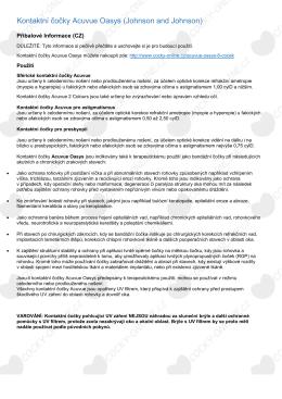 Kontaktní čočky Acuvue Oasys (Johnson and - Čočky