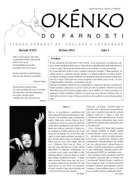 Okénko do farnosti 5/2015 (formát pdf) - Farnost Letohrad