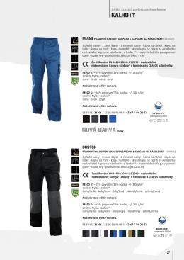 Montérkové kalhoty do pasu DASSY BOSTON