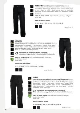 Montérkové kalhoty do pasu DASSY KINGSTON