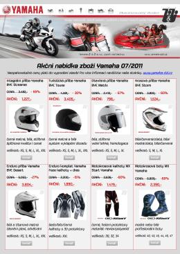 Akční nabídka zboží Yamaha 07/2011 - yamaha