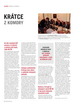 Zprávy z komory a z domova - Krajská hospodářská komora KHK